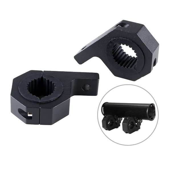Wholesale- car 28mm~31mm Pair Mounting Bracket For Work HID LED Light Bar 4x4 Offroad UTV ATV Lamp mount Tube Clamp Roof Roll Cage Holder
