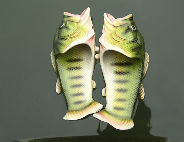 2017 Novelty Kids Fish Children Shoes Handmade Bass Sandals EVR Non-slip Beach Shoes Fashion Hot Sale Soft Slipper Baby Gift size31-44