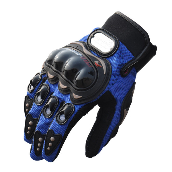 Wholesale- Hot Sale Sports Full Finger Motorcycle Racing Gloves Leather Outdoor Sports Motorcycle Bike Cycling Knight Cross Country Gloves