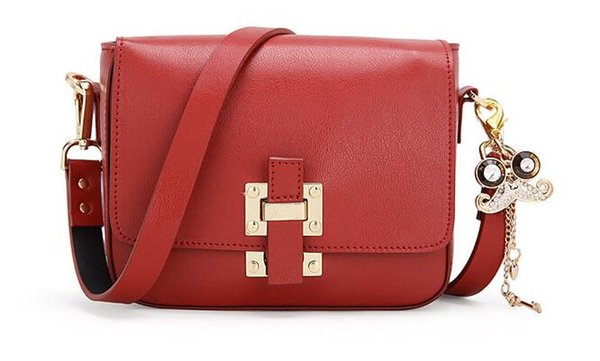 2017 fashion women leather handbags multi color bags ladies metal stud shoulder bags working daily bags mini flap