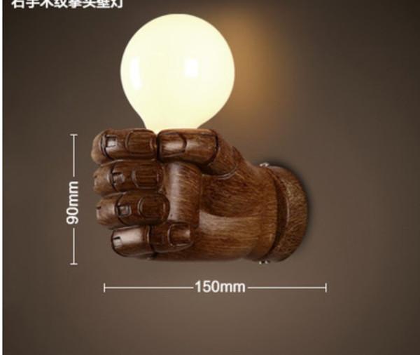 Cor de madeira mão direita