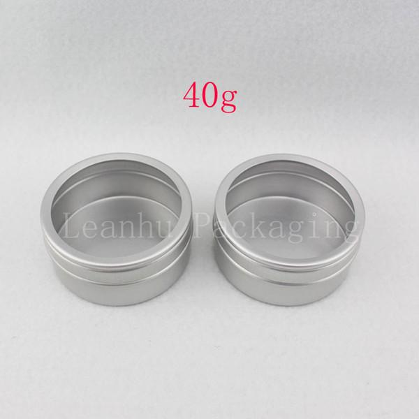 New Wholesale 20 X 40ml empty Aluminum Case 40g Round Matte Aluminum cream can pot,cosmetic cream balm Container Tea Tin bottle