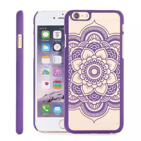 Madala Flower Cases Hard PC Clear For Iphone 5 SE 6S 7PLUS Free Shipping By DHL
