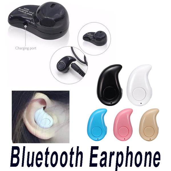 top popular S530 Mini Wireless Stealth Bluetooth Earphone Stereo Headphone Headset Earbuds with Mic Untra-Small Hidden with Retail Package 2021