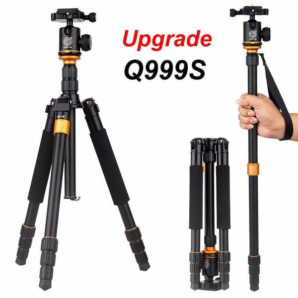 New Upgrade Q999S Professional Photography Portable Aluminum Ball Head+Tripod To Monopod For Canon Nikon Sony DSLR Camera 5pcs