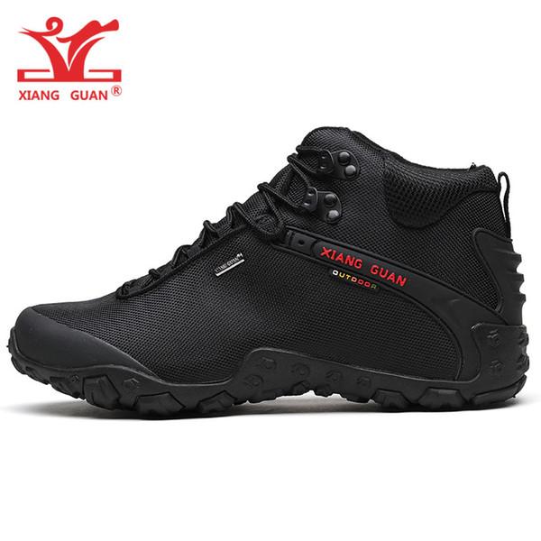 XIANGGUAN Hombre Zapatillas De Senderismo Impermeables Para Hombres Botas Altas Para Trekking Botas Antideslizantes Zapatillas Deportivas De Montaña