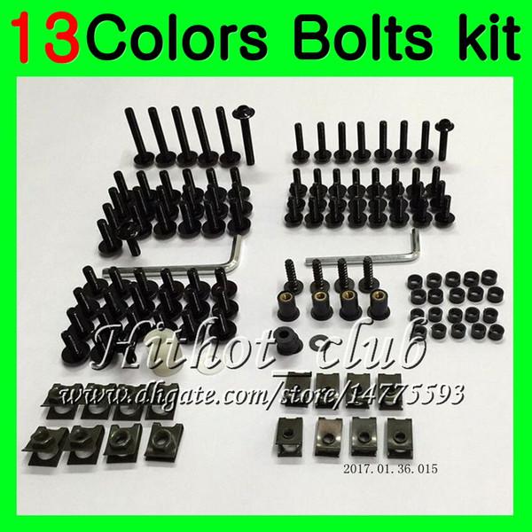 Kit completo de tornillos de carenado Para YAMAHA YZFR6 98 99 00 01 02 YZF-R6 YZF R6 1998 1999 2000 2001 2002 Tuercas de cuerpo tornillos tuercas kit de tornillos 13Colores