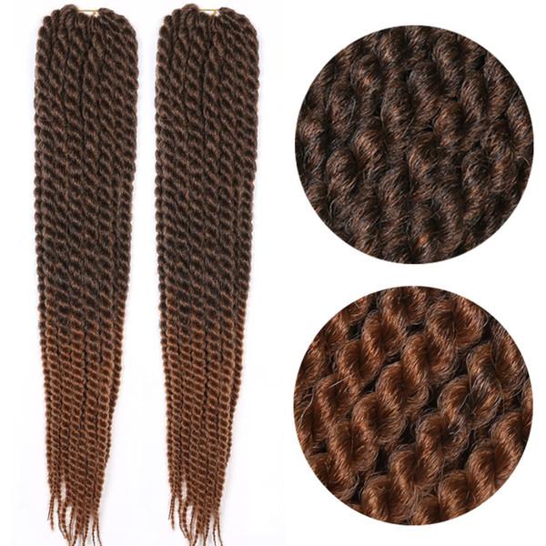 Havana Mambo Twist Crochet Braid Hair Extensions For Girl Synthetic