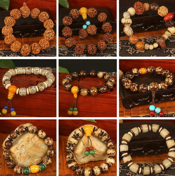 Bodhi child Buddha beads hand string jewelry eighteen child evil spirits security bracelet FB009 mix order 20 pieces a lot Beaded, Strands