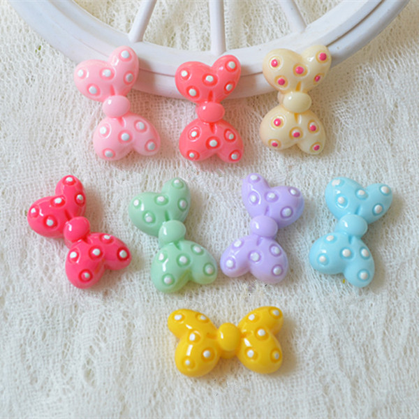 200pcs/lot Resin cartoon bowknot flatback Scrapbooking DIY for Hair Bow rope /headwear/Crafts Frame Making Embellishments Crafts PD085
