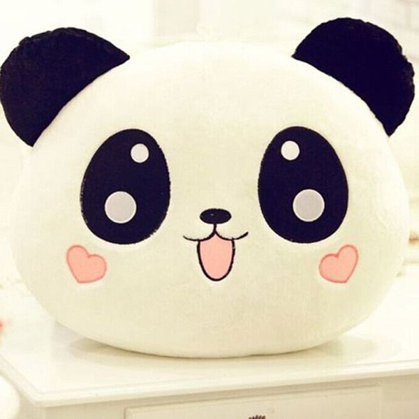 Wholesale- 1 pcs Cute Animal Panda Pillow Top Quality Bolster As Gift 20cm Children Lovely Neck and Back Pillow