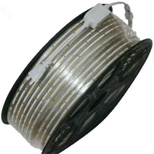100 m 110 V 220 V Led Şeritler smd 5050 LED halat işık IP67 Flex LED Şerit işıklar Dış Aydınlatma dize Disko Bar Pub Noel Partisi