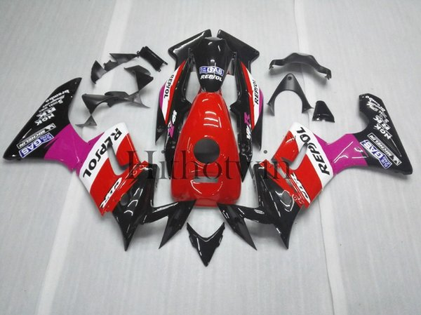 Body Kit repsol red black ABS Fairing For honda CBR125R 2004-2005 CBR 125 R 04 05 Aftermarket Motorcycle