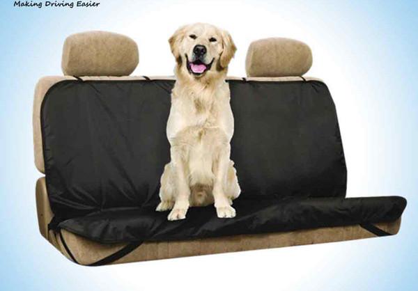 Housse de siège de voiture pour animaux de compagnie Étanche Retour Housse de siège pour Pet Cat / Dog Mat Anti-poussière Siège de voiture Protecteur avec des ceintures pour Sedan + B