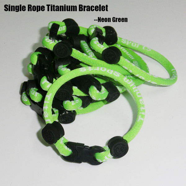 Titanium style single woven rope bracelet