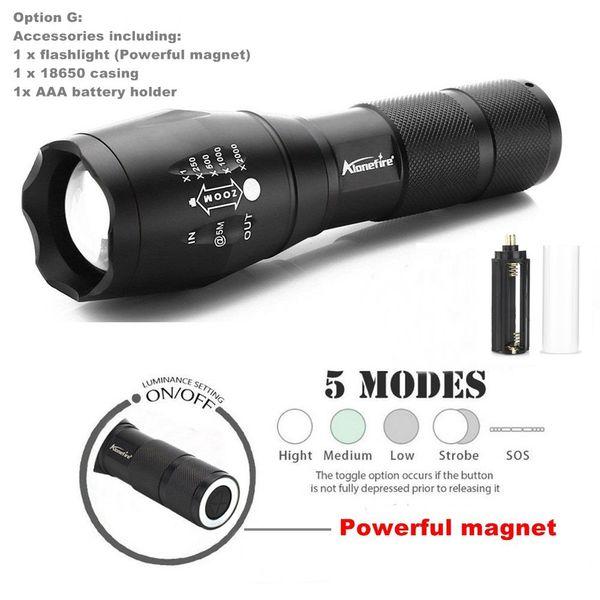 Magnet flashlight