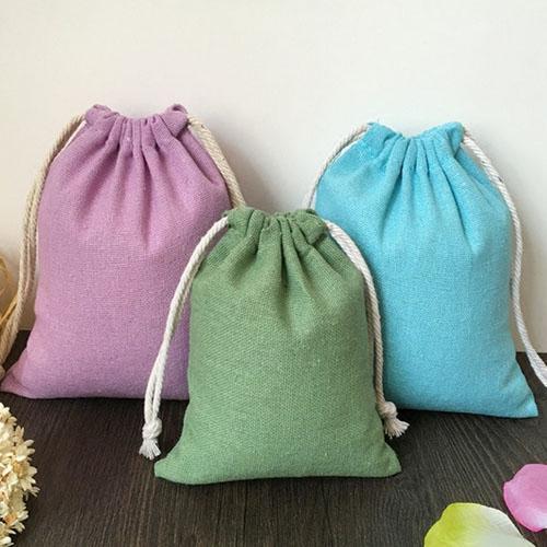 "top popular Cotton Gift Packaing Bag 8x10cm(3""x4"") 9x12cm 10x15cm(4""x6"") Necklace Bracelet Jewelry Drawstring Pouch 2020"