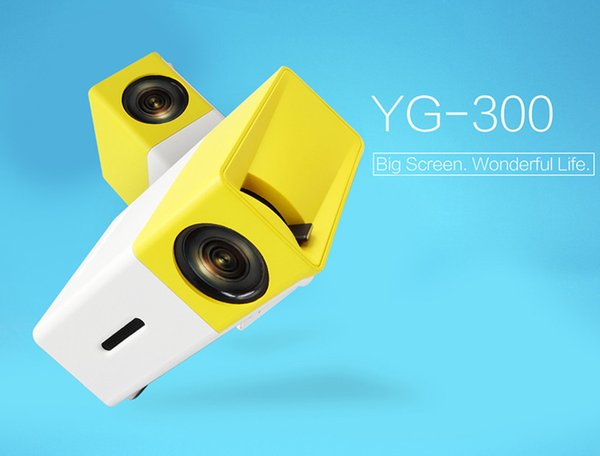 Nueva llegada Mini proyector YG300 Pantalla grande Diseño innovador Luz LED Multi-medios AV HDMI Sistema de enfriamiento Portátil Teatro Proyector