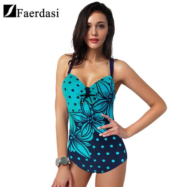 62b436bf9f Faerdasi 2017 Newest One Piece Swimsuit Women Bathing Suits Vintage Summer  Beach Wear Swim Suit Stripe