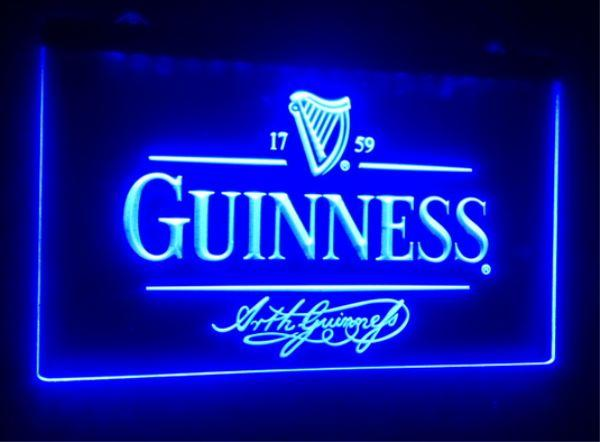 best selling b91 Guinness Alec Arth beer bar pub club 3d signs led neon light sign home decor crafts