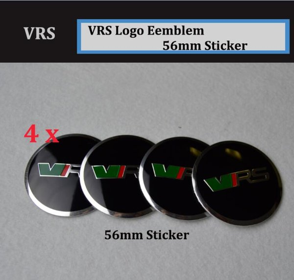 Large quality 4Pcs for skoda VRS Car Wheel Hub Logo Cap Auto Center Emblem Cover Aluminum 56mm Sticker auto accessories Free shipping