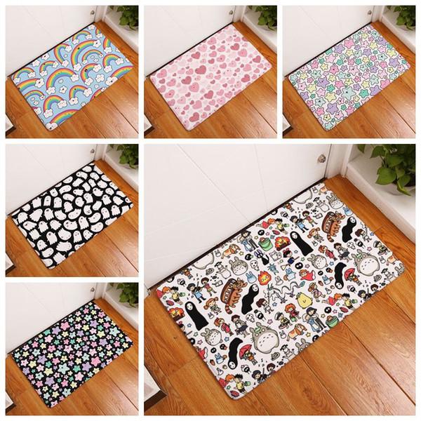 cartoni animati modelli tapete rosa cuori camera dei bambini tappeto anime camera da letto cucina zerbino arcobaleno tappetino del bagno