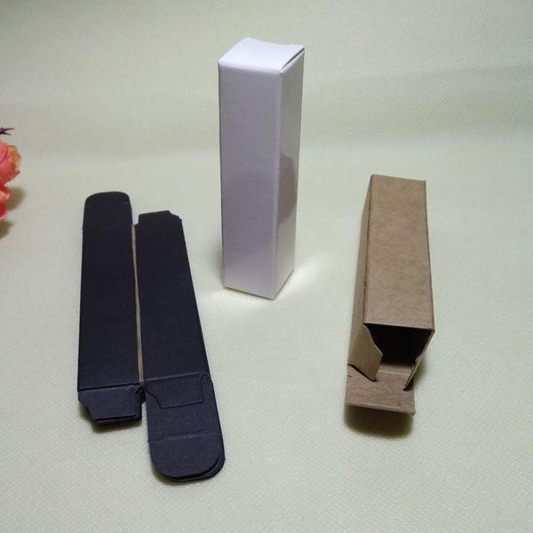 100pcs- 2*2*10cm Black White Kraft Paper Box for Lipstick Essential Oil Perfume Sprays sample party favor box