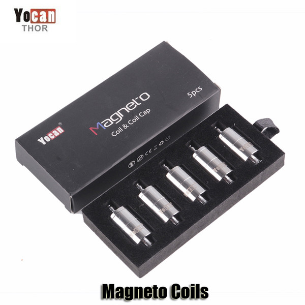 best selling 100% Original Yocan Magneto Replacement Coils Head Ceramic Wax Coil With Magnetic Coil Cap And Dab Tool