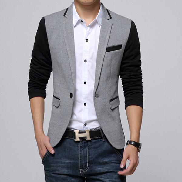 2017 Wholesale 2016 Men Suit Business Fashion Blazer Jacket Plus ...