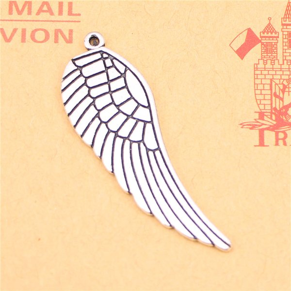 29pcs Tibetan Silver Plated angel wings Charms Pendants for Jewelry Making DIY Handmade Craft 47*15mm