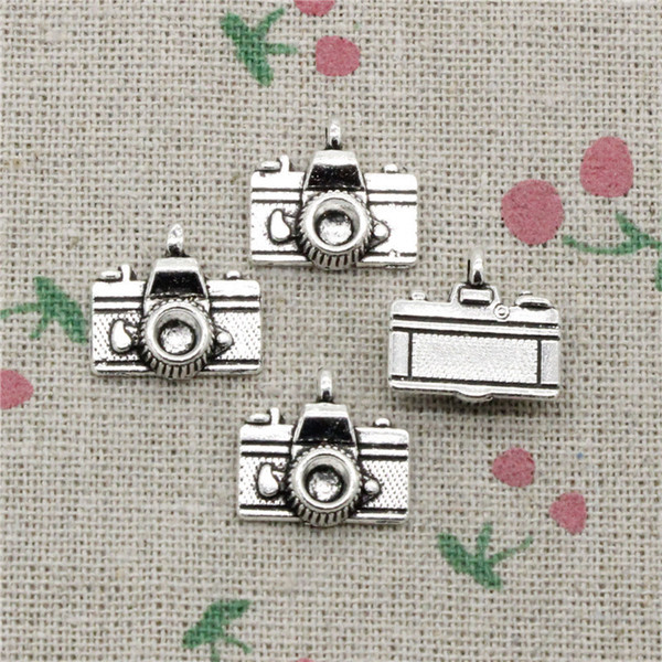 112pcs Charms camera 15*14mm Antique Silver Pendant Zinc Alloy Jewelry DIY Hand Made Bracelet Necklace Fitting