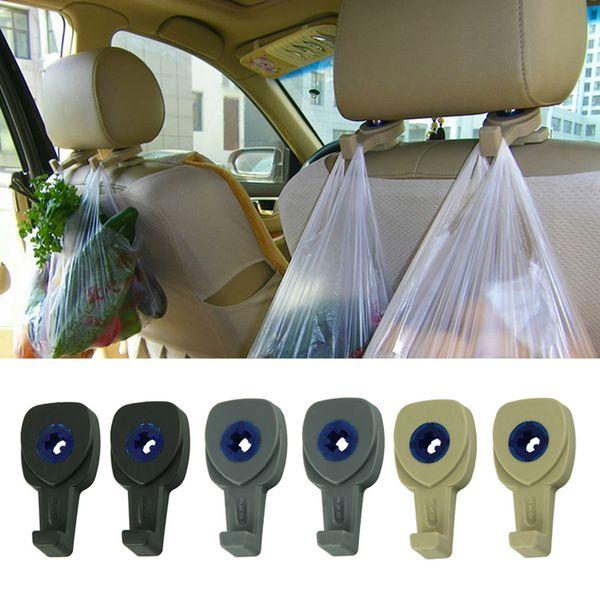 Accessoires intérieurs de voiture en gros 2Pcs / lot Portable Auto Caché Siège Cintre Sac à main Organisateur Titulaire Crochet Têtière
