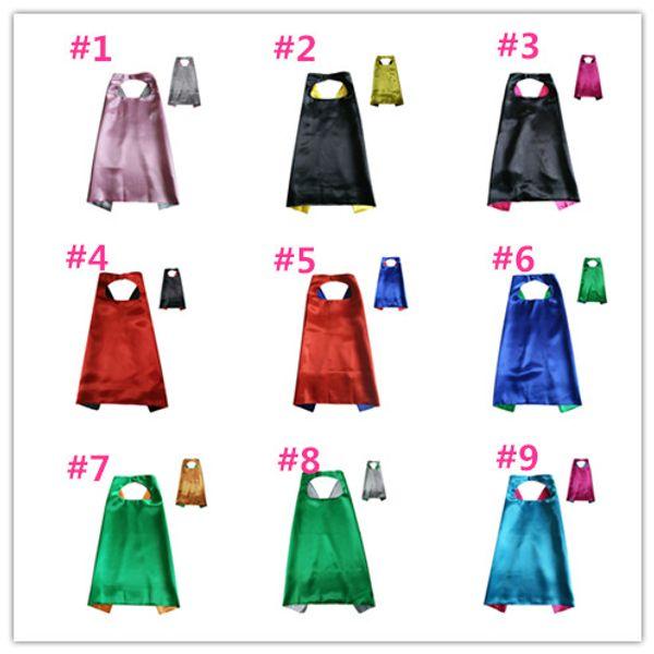 11Colours Double Side Cape con 2 colores diferentes 70 * 70 cm Capas para niños Navidad Halloween Cosplay Prop Disfraces Cabo L007