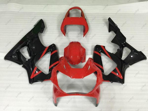 Full Body Kits CBR929RR 2000 ABS Fairing CBR 929RR 01 Black Red Plastic Fairings CBR900 929 00 01 2000 - 2001