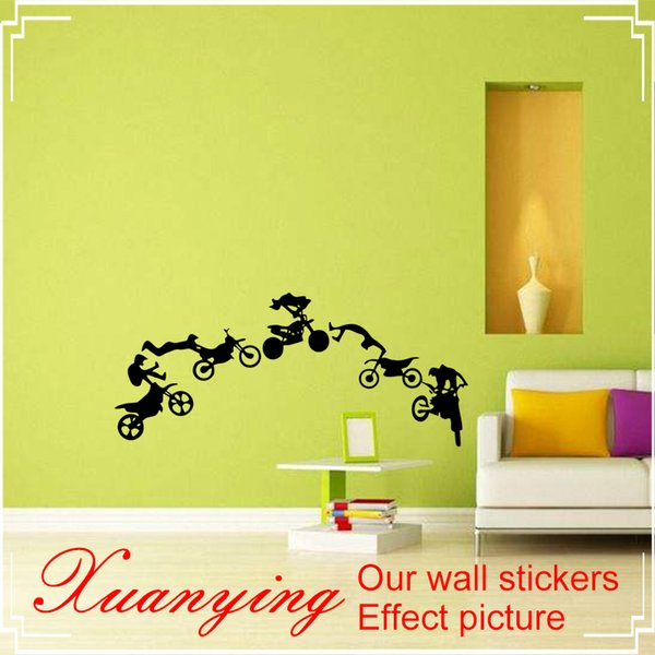Motocross Motor Bike Wall Decor Home Vinyl Decal Sticker Art DIY Mural