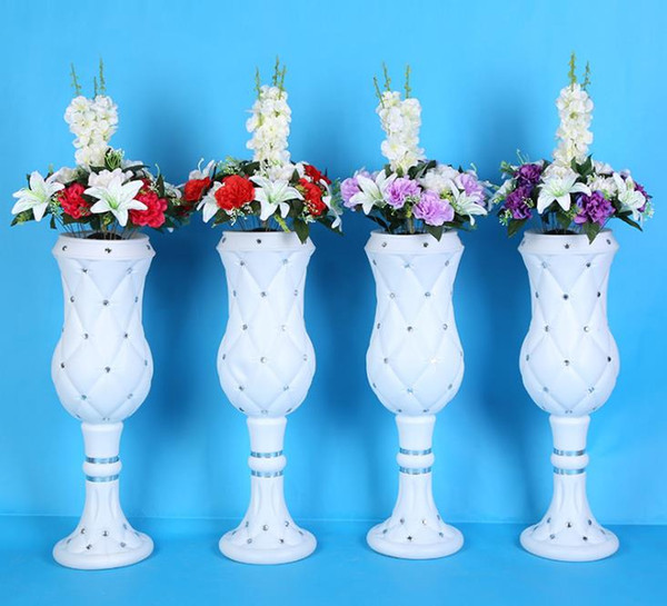 75cm high-end atmosphere viscose plastic vase wedding products wholesale wedding shop decoration Road cited Free shipping WQ12