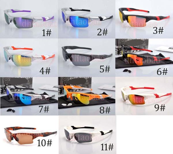 Moq = 1Pcs neue Qualitäts-Sport-Halbrandlose Farben-Film-polarisierte Sonnenbrille + Fall-Schutzbrille-im Freienfahrrad-Augen-Abnutzung 11 Farben geben Verschiffen frei