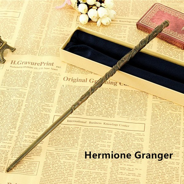 Creative Cosplay 17 Styles Hogwarts Harry Potter Series Magic Wand New Upgrade Resin with Metal Core #03 Hermione Granger Magical Wand
