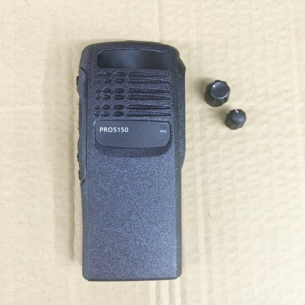 Wholesale- honghuismart The housing front case shell for motorola Pro5150 walkie talkie with 2 knobs,speaker lock,labels, plate,dust cover