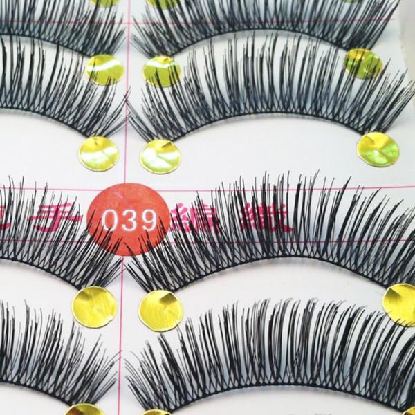 Toptan-El Yapımı 10 Pair Doğal Kalın Uzun Yanlış Eyelashes Vizon Kirpik Uzatma Göz Lashes Hacimli Makyaj Sahte Lashes Için Yapı
