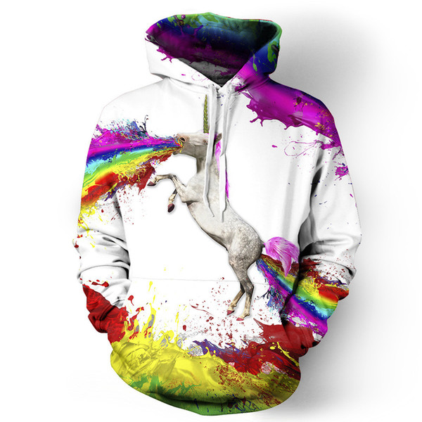 Wholesale- VMT 2017 New 3D Abstract Geometry Men/Women Hoodies With Hat Hoody Print Color Blocks Thin 3d Sweatshirts Hooded Hood Tops