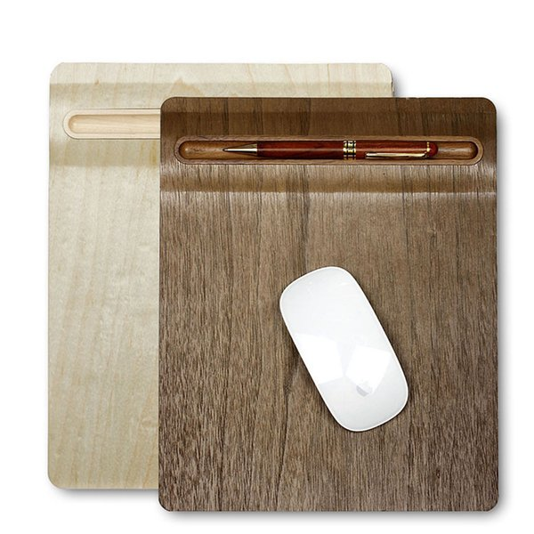 Artistic Wooden Grain PC Desk Pad Table Mat Mousepad Table Mat with Pen Holder