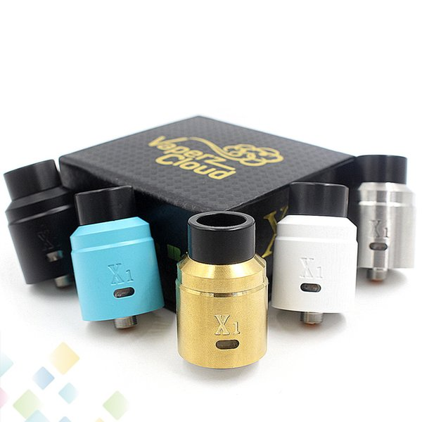 Newest X1 Vaperz Cloud RDA Rebuildable Atomizer 304 Stainless Steel 24mm diameter Adjustable Airflow 5 Colors fit 510 Mods DHL Free