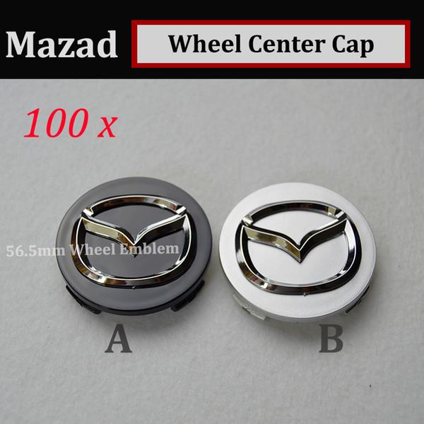HOT 100pcs 56mm emblem Auto Wheel Hub Emblem covers for CX 5 7 9 RX MPV MX Car Wheel Center Covers