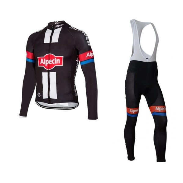 winter thermal fleece pro team alpecin cycling jersey sets Ropa Ciclismo long sleeve bike cloth quick dry MTB Bicycle maillot gel