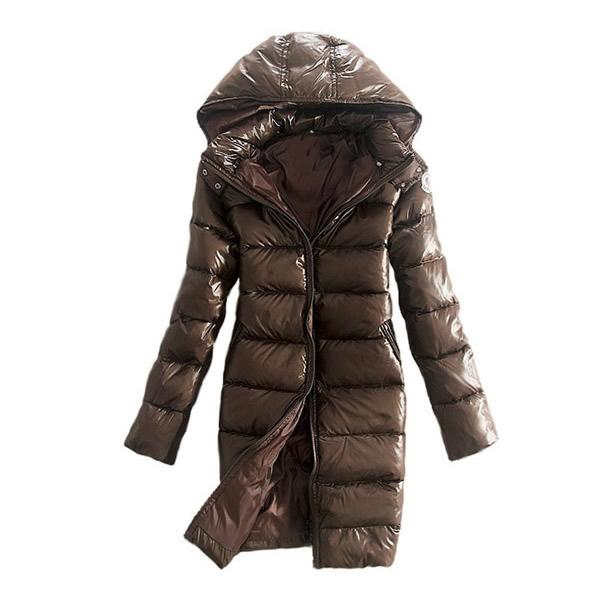 2017 Slim Ladies White Duck Down Women's Jackets With Big Hooded Winter Goose Cheap price Warm Ladies Women Down Coat Long 2017 Solid Brown