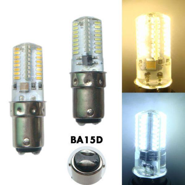 Paquete de 10, BA15D 1142 1178 Lámpara LED 3W 64LEDs 3014 SMD Bombilla Máquina de coser Luz regulable 110V / 220V Blanco / Blanco cálido
