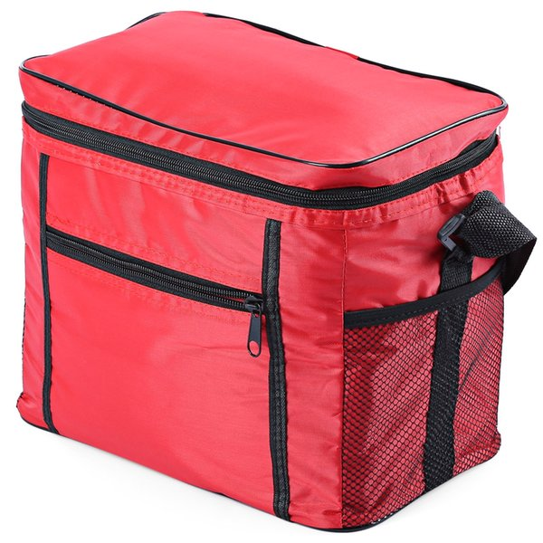 Multi-functional Cloth Insulation Cooler Box Travel Picnic Ice Bag Picnic Ice Bag Cloth Double-deck Insulation Cooler Box Hiking Camping +B