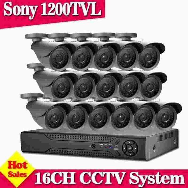 16CH CCTV System AHD 960H DVR HDMI SONY CCD 1200TVL Home Security System Surveillance Kits NO HDD