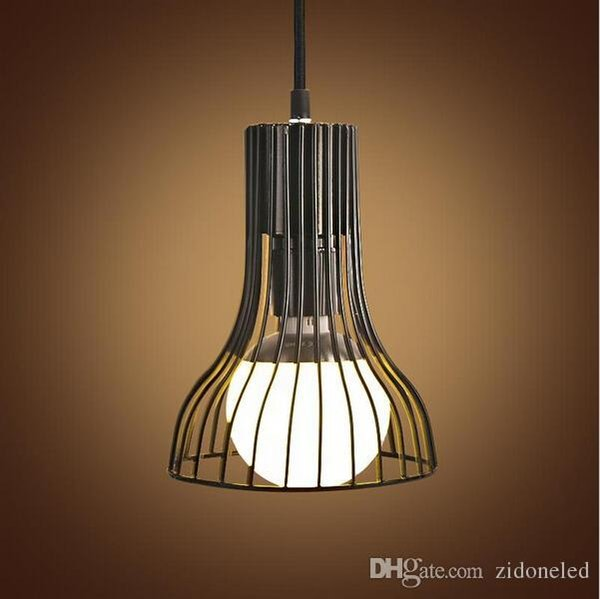 New design Vintage Industrial Iron Pendant Lights E27 Retro Hanging Light Minimalist Creative LED Pendant Lamp For Cafe Bar Restaurant